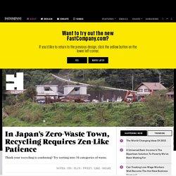 In Japan's Zero-Waste Town, Recycling Requires Zen-Like Patience