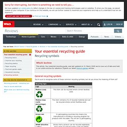 Recycling symbols - Your essential recycling guide - Archive