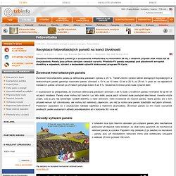 Recyklace fotovoltaických panelů na konci životnosti - TZB-info