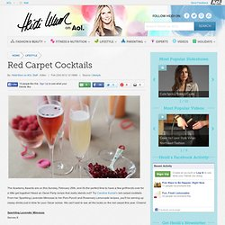 Red Carpet Cocktails