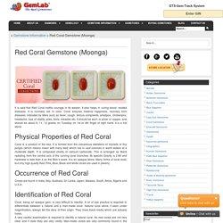 Red Coral Gemstone (Moonga)