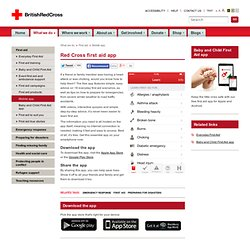 First aid mobile app