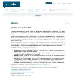 ¿Qué es una WebQuest? Red Infod