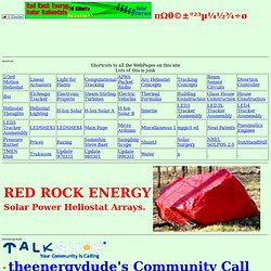 Red Rock Energy Heliostats