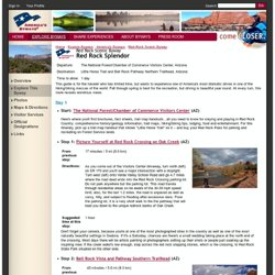 Red Rock Splendor - Itinerary