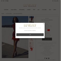 RED SEQUIN DRESS – Lurelly