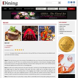 Red Sky – Bangkok Best Dining