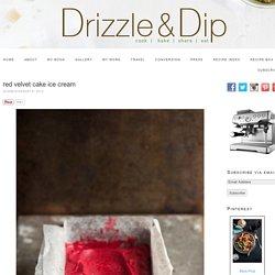 Red velvet cake ice cream