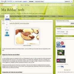 Ma Rédac' web: L'huile de noix du Brésil, nourrissante