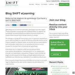 Redacción de objetivos de aprendizaje: Qué hacer y qué no debe hacer