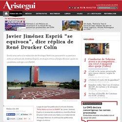 Envió una carta a la redacción de Aristegui Noticias para emitir su postura ante un artículo de Jiménez Espriú, en el que critica a Sergio Alcocer, quien es candidato a dirigir a la UNAM.