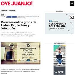 15 cursos online gratis de Redacción, Lectura y Ortografía