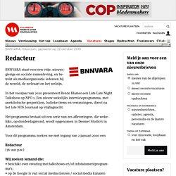 Redacteur - BNNVARA, Hilversum / Villamedia