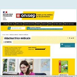 rédacteur médical / rédactrice médicale - Onisep