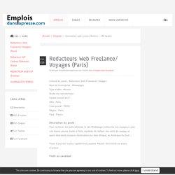 Redacteurs Web Freelance/ Voyages (Paris)