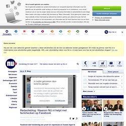 Redactieblog: Waarom NU.nl helpt met factchecken op Facebook