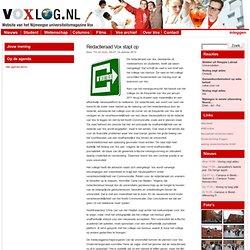 » Redactieraad Vox stapt op Voxlog