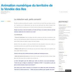 La rédaction web, petits conseils! « Animation numérique du territoire de la Vendée des Iles