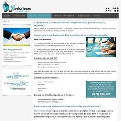 Redaction comptes rendus, de proces verbaux et redaction de rapports sur la base d'enregistrement audio