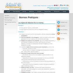 E-mail Marketing - Solution Emailing et SMS MailPerformance