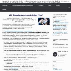 Rédaction du mémoire technique dans les appels d'offres publics