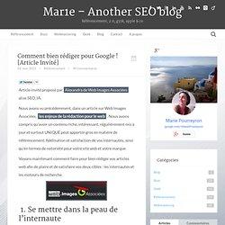 La rédaction web pour plaire aux moteurs de recherche !