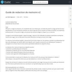 Guide de redaction de memoire v2 - Rapports de Stage - Stefan-Nguessan