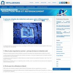 5 astuces simples de rédaction web pour votre référencement
