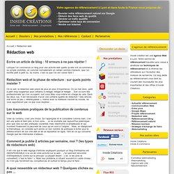 Rédaction web optimisée pour le référencement, rédacteur web SEO