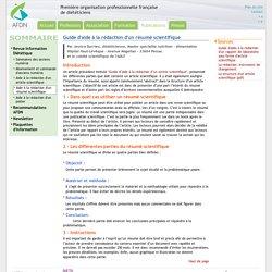 Aide à la rédaction d'un résumé scientifique