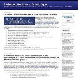 Rédaction Médicale et Scientifique