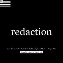 Typeface from Titus Kaphar / Reginald Dwayne Betts' show at MoMA PS1