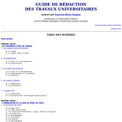 Guide de rédaction des travaux universitaires