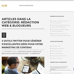 Rédaction web & blogueurs