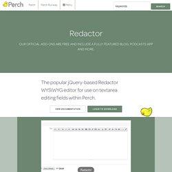 Redactor - Add-ons