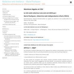 Rédactrice web indépendante - CGV - Marie Pouliquen