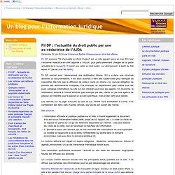 Fil DP : l'actualité du droit public par une ex-rédactrice de l'AJDA