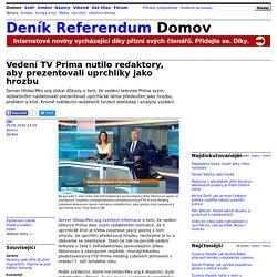 Vedení TV Prima nutilo redaktory, aby prezentovali uprchlíky jako hrozbu