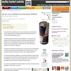 All you ever wanted to know about Redbull