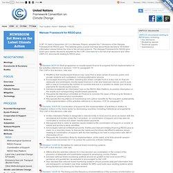 REDD - Warsaw Framework for REDD-plus