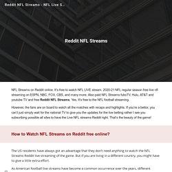 Reddit NFL Streams - NFL Live Stream Reddit