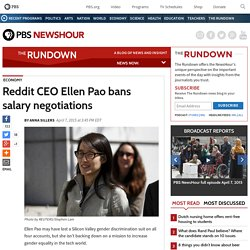 Reddit CEO Ellen Pao bans salary negotiations