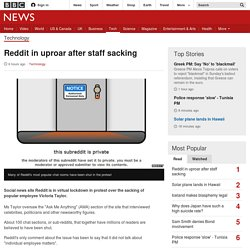 Reddit in uproar after staff sacking