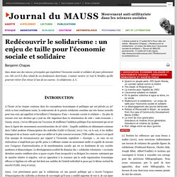 Redécouvrir le solidarisme: un enjeu de taille pour l'économie sociale et solidaire