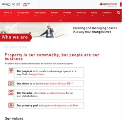 Who We Are - Redefine Properties Vision & Mission