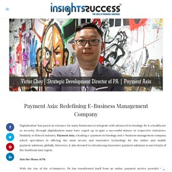 Redefining E-Business Management Company