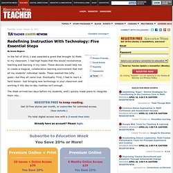 Education Week Teacher: Redefining Instruction With Technology: Five Essential Steps