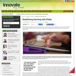 Redefining learning with iPads