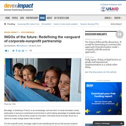 INGOs of the future: Redefining the vanguard of corporate-nonprofit partnership