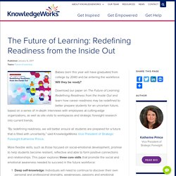 Redefining Readiness from the Inside Out: The Future of Learning